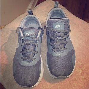 Boy Gray and White Nike Sneaker